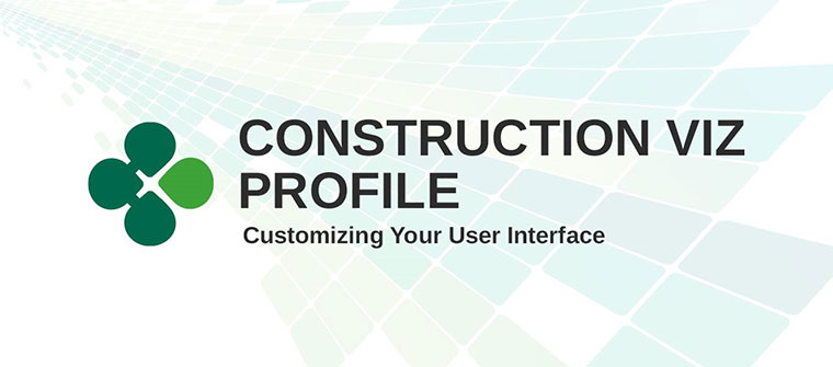 Customize your Construction Viz profile using the Profile Builder